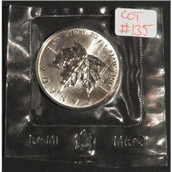 1989 1 oz Canada .9999 $5 Fine Silver Maple RCM SEALED