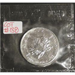2002 1 oz Canada .9999 $5 Fine Silver Maple RCM SEALED
