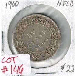 1900 Newfoundland Silver 50 Cent coin
