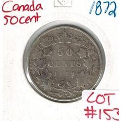 1872 Canada Silver 50 Cent