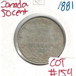 1881 Canada Silver 50 Cent