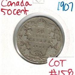 1907 Canada Silver 50 Cent