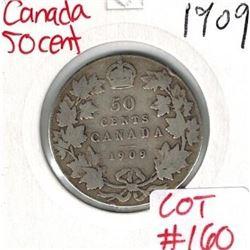 1909 Canada Silver 50 Cent
