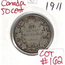 1911 Canada Silver 50 Cent
