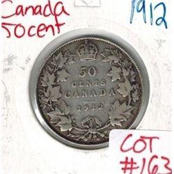 1912 Canada Silver 50 Cent