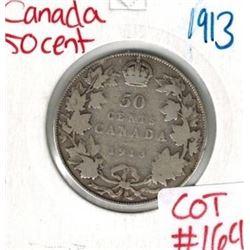 1913 Canada Silver 50 Cent