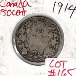 1914 Canada Silver 50 Cent