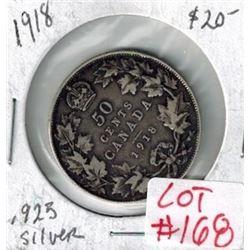 1918 Canada Silver 50 Cent