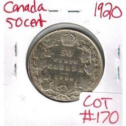 1920 Canada Silver 50 Cent