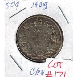 1929 Canada Silver 50 Cent