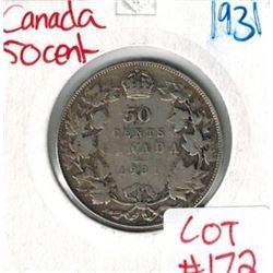 1931 Canada Silver 50 Cent