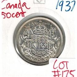 1937 Canada Silver 50 Cent