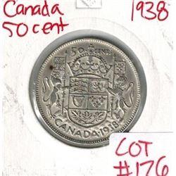 1938 Canada Silver 50 Cent