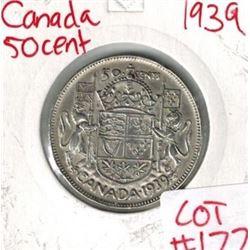 1939 Canada Silver 50 Cent