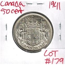 1941 Canada Silver 50 Cent