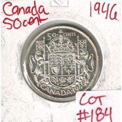 1946 Canada Silver 50 Cent