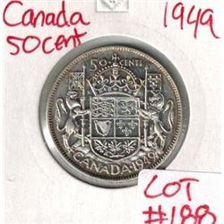 1949 Canada Silver 50 Cent