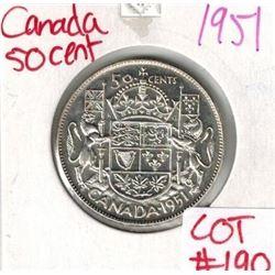 1951 Canada Silver 50 Cent
