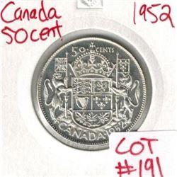 1952 Canada Silver 50 Cent