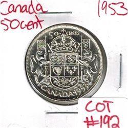 1953 Canada Silver 50 Cent