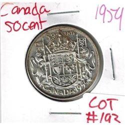 1954 Canada Silver 50 Cent
