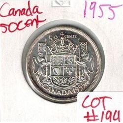 1955 Canada Silver 50 Cent