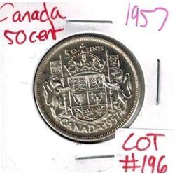 1957 Canada Silver 50 Cent