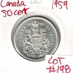 1959 Canada Silver 50 Cent