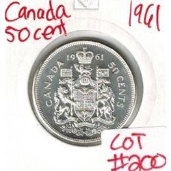 1961 Canada Silver 50 Cent