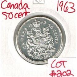 1963 Canada Silver 50 Cent