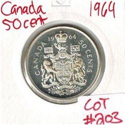 1964 Canada Silver 50 Cent
