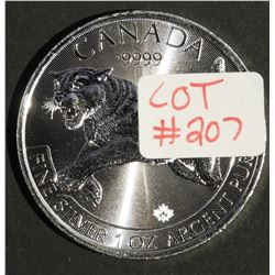 2016 Special Edition 1 oz Canada .9999 $5 Fine Silver Maple PREDATOR SERIES COUGAR