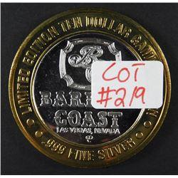 Limited Edition .999 Fine Silver Casino Token BARBARY COAST