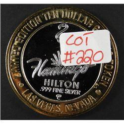 Limited Edition .999 Fine Silver Casino Token THE FLAMINGO