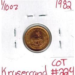 1982 1/10 oz Fine Gold KRUGERRAND South Africa