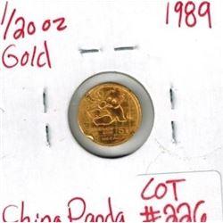 1989 1/20 oz Gold Panda