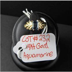 Ladies 14 kt gold ring with Maria Aquamarine