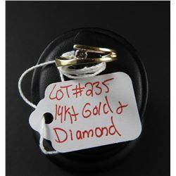 Ladies 14 kt Yellow Gold & Diamond Ring