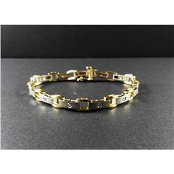 Ladies 14 kt White & Yellow Gold Diamond Bracelet