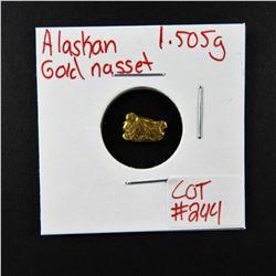 Natural Alaskan Gold Nugget 1.505 grams