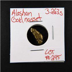 Natural Alaskan Gold Nugget 3.263 grams