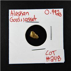 Natural Alaskan Gold Nugget 0.992 grams
