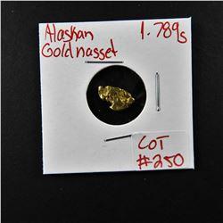 Natural Alaskan Gold Nugget 1.789 grams