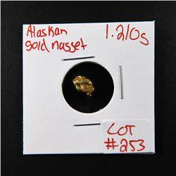 Natural Alaskan Gold Nugget 1.210 grams