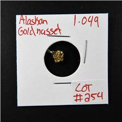 Natural Alaskan Gold Nugget 1.049 grams