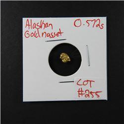 Natural Alaskan Gold Nugget 0.572 grams