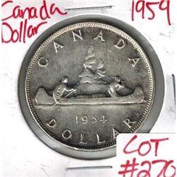 1954 Canadian Silver Dollar