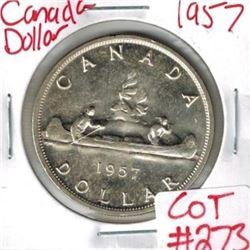 1957 Canadian Silver Dollar