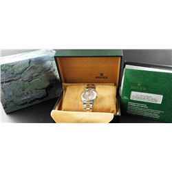 Men's Two Tone Datejust Oyster Rolex Model #15223 complete with Box, Papers & Service Warranty