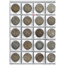 Page of 20 1922 & 1923 US Peace Dollars
